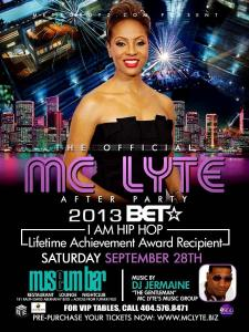 Official MC Lyte After Party Flyer 2013 BET Awards