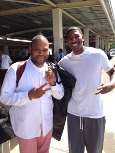 Actor Anthony Anderson & I in Jamaica