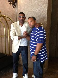MC Lyte's personal DJ... DJ K Rock and I at The 2013 BET Awards in Atlanta, GA