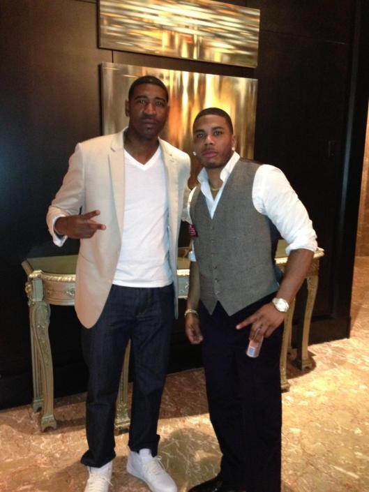 Nelly and I at The 2013 BET Awards Atlanta