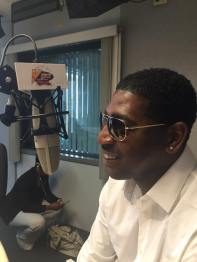 Doing a radio interview @ V103 in Chicago