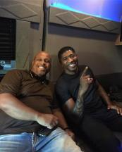 Dj Jermaine and the producer of Love Jones The Musical Melvin Childs