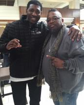 Dj Jermaine hanging with Dave Hollister